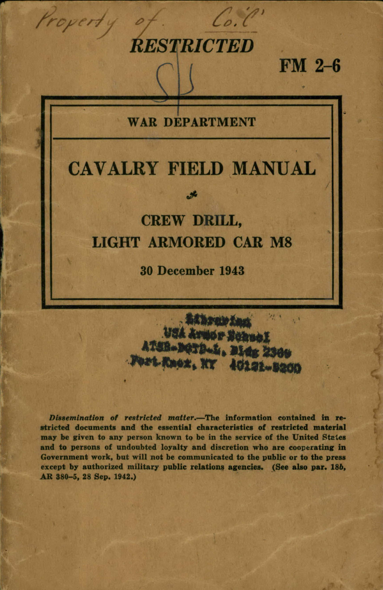 maneuver center of excellence libraries rh benning army mil Army Field Manual 3 21.5 Army Technical Manuals