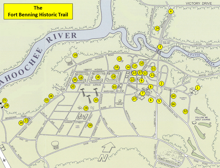Fort Benning Ga Map Fort Benning | Fort Benning Historic Trail