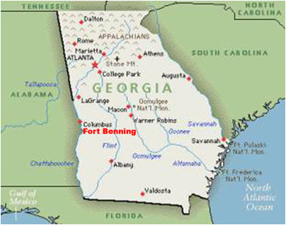 Map Of Georgia Fort Benning.Fort Benning International Military Student Office Imso